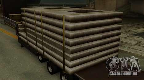 Flatbed3 Grey para GTA San Andreas vista traseira