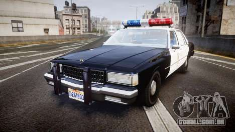 Chevrolet Caprice 1989 LAPD [ELS] para GTA 4
