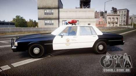 Chevrolet Caprice 1989 LAPD [ELS] para GTA 4 esquerda vista