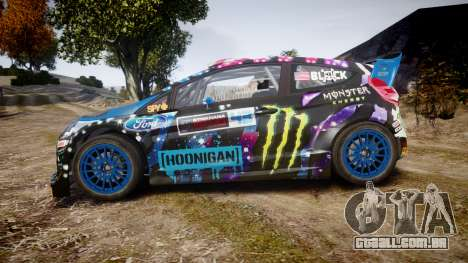 Ford Fiesta RS Ken Block 2015 para GTA 4 esquerda vista