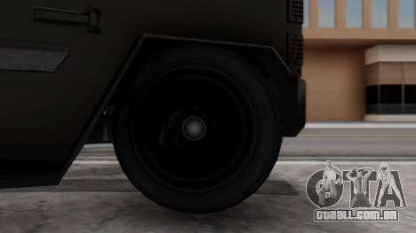 GTA 5 Enforcer Indonesian Police Type 2 para GTA San Andreas traseira esquerda vista
