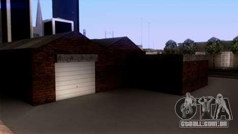 Novo LSPD garagem para GTA San Andreas por diante tela