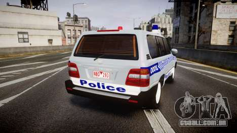 Toyota Land Cruiser 100 2005 Police [ELS] para GTA 4 traseira esquerda vista