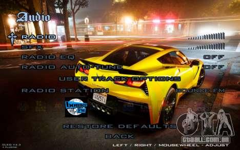 Night Menu para GTA San Andreas por diante tela