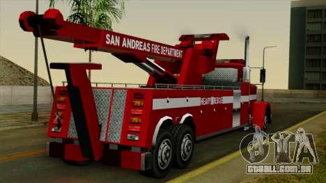 FDSA Heavy Rescue Truck para GTA San Andreas esquerda vista