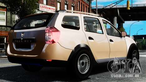 Dacia Logan MCV Stepway 2014 para GTA 4 esquerda vista