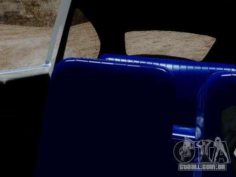 Volkswagen Fusca 1975 Jeans Edição Personalizada para GTA San Andreas vista traseira