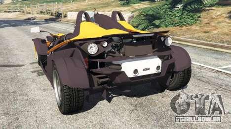 GTA 5 KTM X-Bow [Beta] traseira vista lateral esquerda
