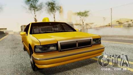 Declasse Premier Taxi para GTA San Andreas traseira esquerda vista
