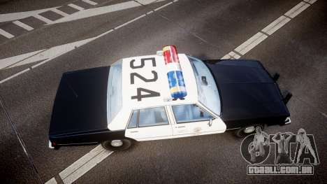 Chevrolet Caprice 1989 LAPD [ELS] para GTA 4 vista direita