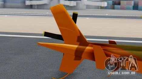 Swift Deluxe para GTA San Andreas traseira esquerda vista