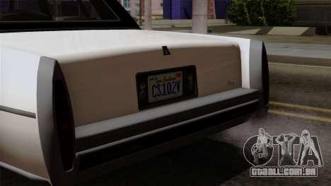 GTA 5 Albany Emperor para GTA San Andreas vista direita