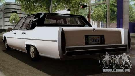 GTA 5 Albany Emperor para GTA San Andreas esquerda vista