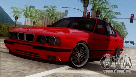 BMW M5 E34 BUFG Edition para GTA San Andreas esquerda vista