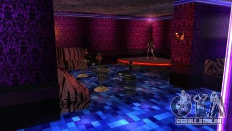 Retextured interior clubes de strip para GTA San Andreas por diante tela