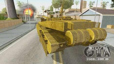 T-90MS CoD Ghost para GTA San Andreas esquerda vista