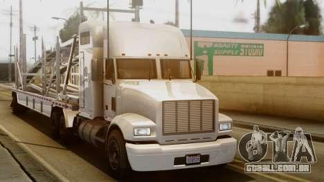 GTA 5 MTL Packer Driving para GTA San Andreas traseira esquerda vista