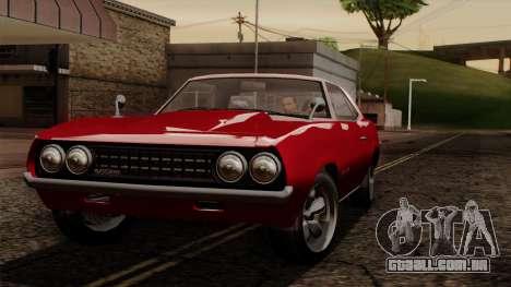 GTA 5 Declasse Vigero IVF para GTA San Andreas vista interior
