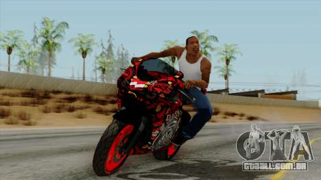 Bati Batik Motorcycle v2 para GTA San Andreas traseira esquerda vista