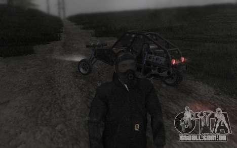 GTA5 Gasmask para GTA San Andreas sexta tela