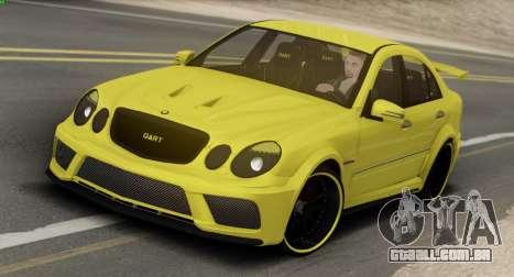 Mercedes-Benz E63 Qart Tuning para GTA San Andreas traseira esquerda vista