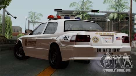 GTA 5 Sheriff Car para GTA San Andreas esquerda vista