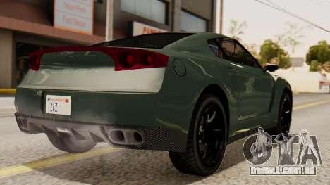 GTA 5 Annis Elegy RH8 SA Style para GTA San Andreas esquerda vista