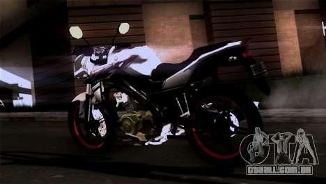 Yamaha Vixion Advance Lominous White para GTA San Andreas esquerda vista