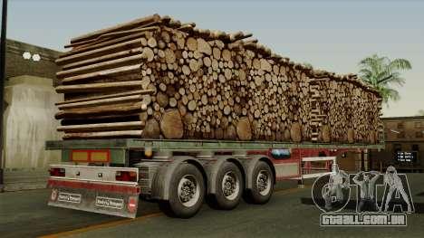 Trailer Cargos ETS2 New v2 para GTA San Andreas esquerda vista