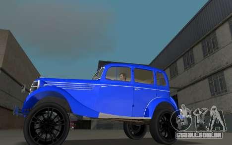 GAZ 11-73 Azul Royal para GTA Vice City deixou vista