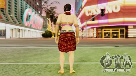 Zafina from Takken 6 v1 para GTA San Andreas terceira tela