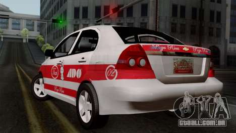 Chevrolet Aveo Taxi Poza Rica para GTA San Andreas esquerda vista