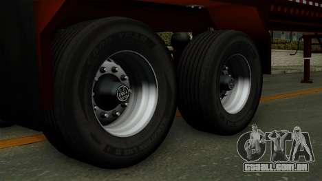 Trailer Log v1 para GTA San Andreas traseira esquerda vista