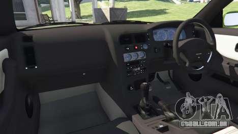 GTA 5 Nissan Skyline BCNR33 [Beta] vista lateral direita