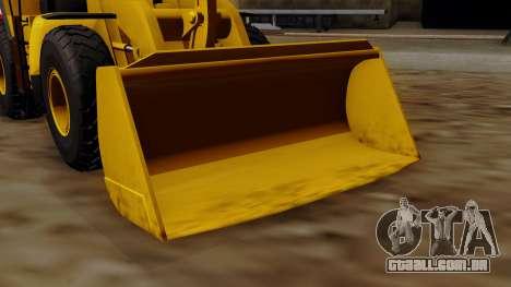 GTA 5 HVY Dozer para GTA San Andreas vista direita