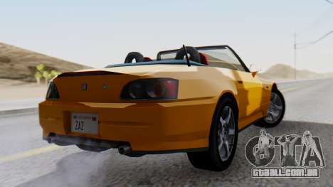 Honda S2000 Fast and Furious para GTA San Andreas esquerda vista