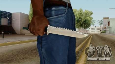Original HD Knife para GTA San Andreas terceira tela
