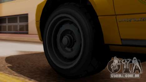 Landstalker Taxi SR 4 Style para GTA San Andreas traseira esquerda vista