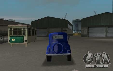 GAZ 11-73 Azul Royal para GTA Vice City vista direita
