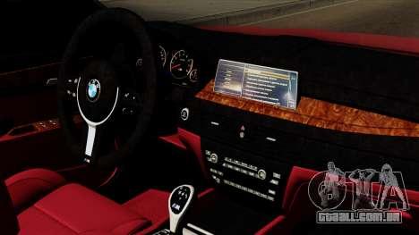 BMW 7 2015 para GTA San Andreas vista direita