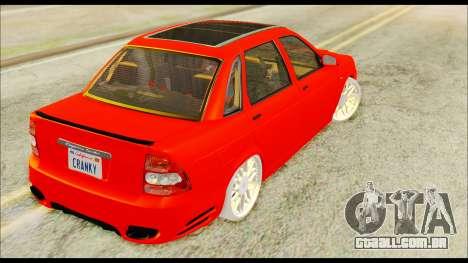 Lada Priora Porsche Customs para GTA San Andreas esquerda vista