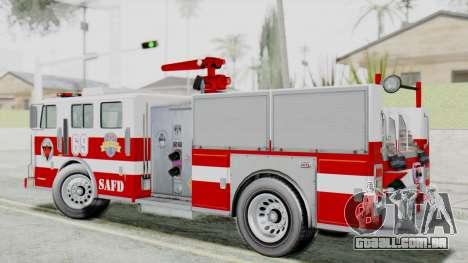 MTL SAFD Firetruck Flat Shadow para GTA San Andreas esquerda vista