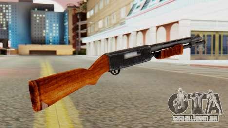 Xshotgun espingarda de ação de Bomba para GTA San Andreas segunda tela