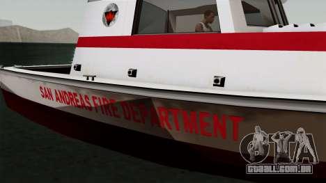 FDSA Reefer para GTA San Andreas traseira esquerda vista