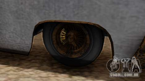 GTA 5 Declasse Voodoo Worn para GTA San Andreas traseira esquerda vista