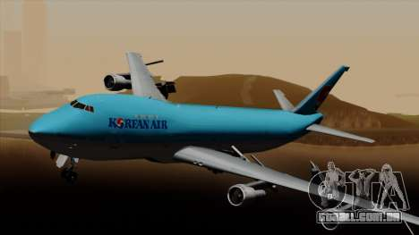 Boeing 747 Korean Air para GTA San Andreas