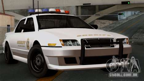 GTA 5 Sheriff Car para GTA San Andreas