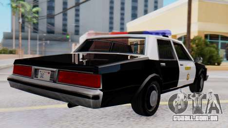 Chevrolet Caprice 1980 SA Style LVPD para GTA San Andreas esquerda vista
