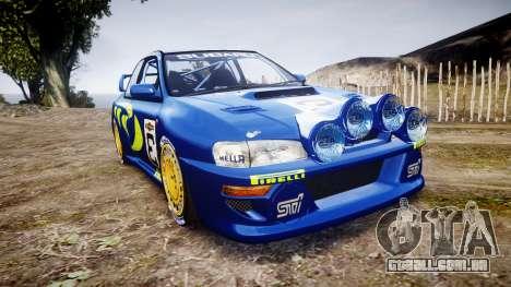 Subaru Impreza WRC 1998 World Rally para GTA 4
