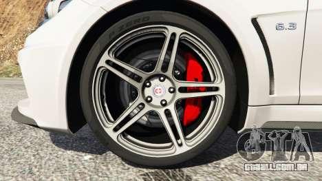 GTA 5 Mercedes-Benz C63 AMG 2012 traseira direita vista lateral